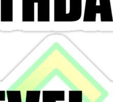 Level Up Birthday Sticker