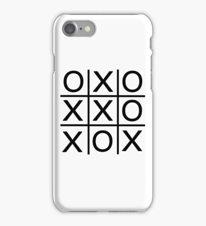 No One Wins - Noughts and Crosses iPhone Case/Skin