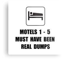 Motel Dump Metal Print