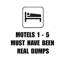 Motel Dump Photographic Print