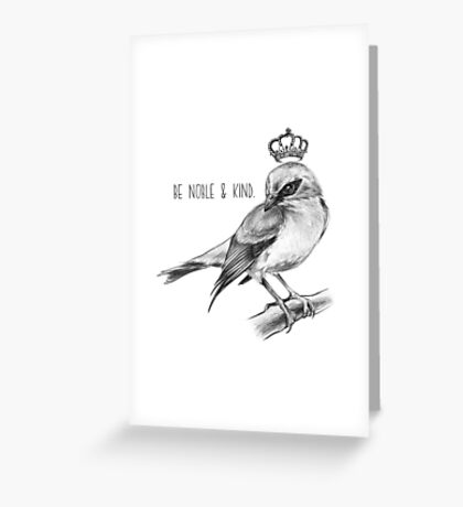 Bird and Quote by Magda Opoka Greeting Card