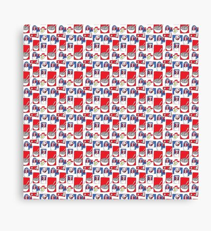 Red, White and Soup Canvas Print