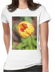 Striped Tulip Womens Fitted T-Shirt
