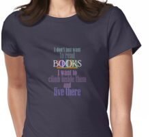 Live inside books Womens Fitted T-Shirt