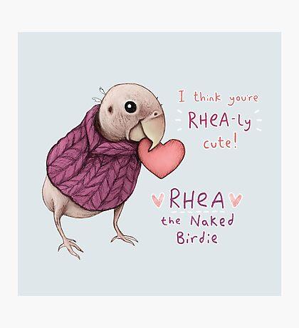 Rhea - Rhea-ly Cute! Photographic Print