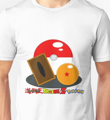 Crossover Pokemon,Yugioh,Dragon ball Unisex T-Shirt