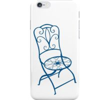 BISTRO FOLDING CHAIR - BLUE iPhone Case/Skin