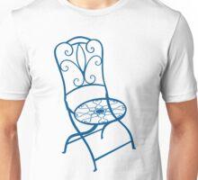 BISTRO FOLDING CHAIR - BLUE Unisex T-Shirt