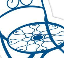 BISTRO FOLDING CHAIR - BLUE Sticker