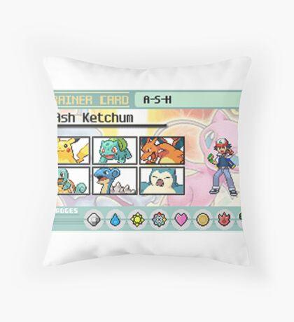 Ash Ketchum Kanto Team Throw Pillow