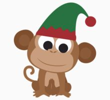Christmas Elf Monkey One Piece - Long Sleeve