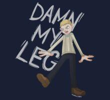 DAMN MY LEG Kids Tee