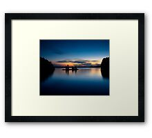 Burntside Lake Framed Print