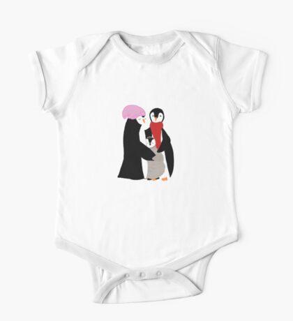 Happy Penguin Family One Piece - Short Sleeve