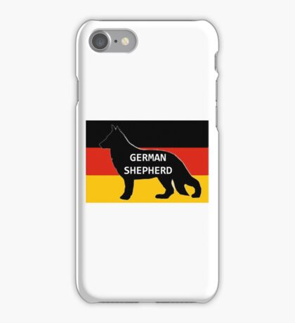 GS name silhouette on flag iPhone Case/Skin