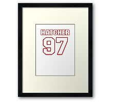 NFL Player Jason Hatcher ninetyseven 97 Framed Print