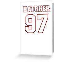 NFL Player Jason Hatcher ninetyseven 97 Greeting Card