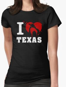 I Heart Texas (White) Womens Fitted T-Shirt