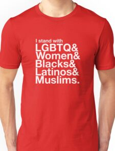 i stand with women - love trumps hate Unisex T-Shirt