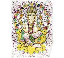 Ganesha Hindu elephant God - remover of obstacles Poster