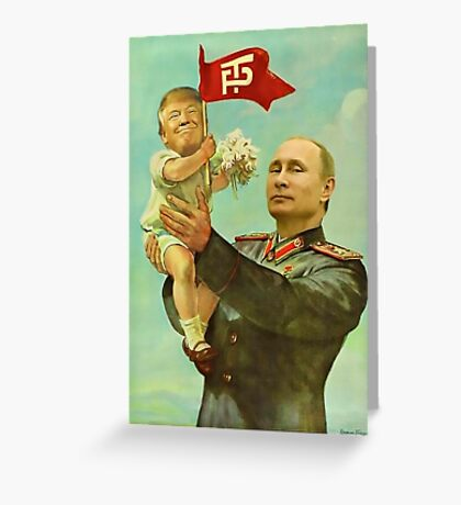 Trump Putin Greeting Card