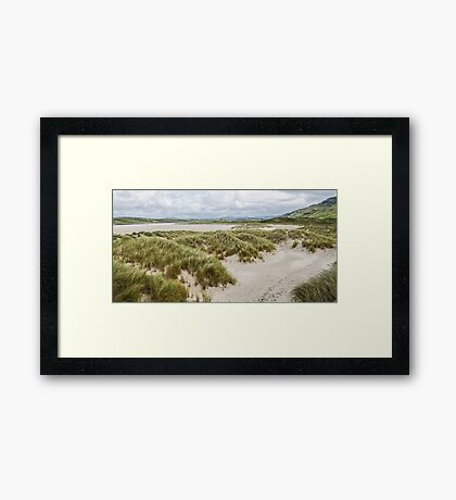 Foot Prints in the Sand - Maghera, Ireland Framed Print
