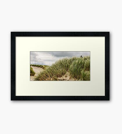 Walking Through the Dunes - Maghera Beach, Ireland Framed Print