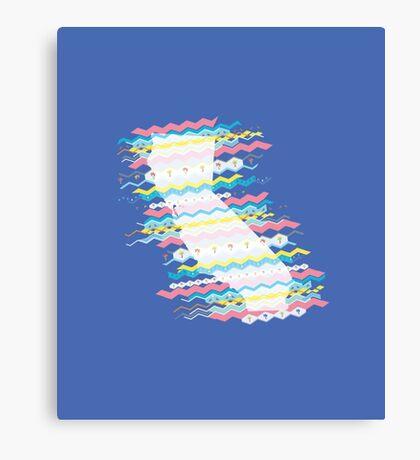 California Zigs & Zags: 8-Bit Party Pattern Canvas Print