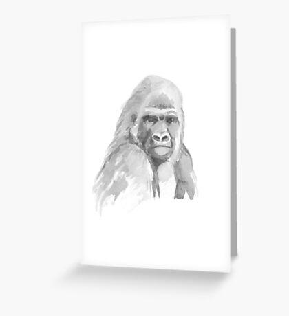 Gorilla. Greeting Card