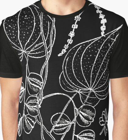 Britton And Brown Illustrated flora of the northern states and Canada 0591 Dioscorea villo Graphic T-Shirt