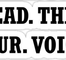 Voice Pause Sticker