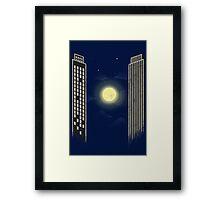 Ping Pong Moon Framed Print