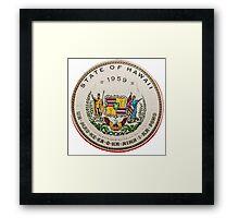 Vintage State Of Hawaii Badge Framed Print