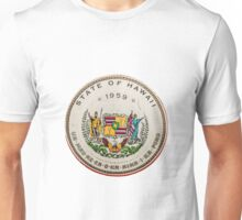 Vintage State Of Hawaii Badge Unisex T-Shirt