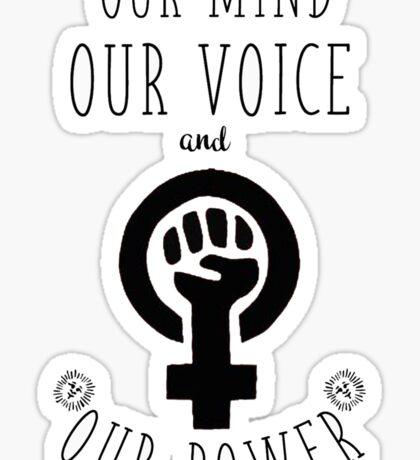Women Fight Back Sticker