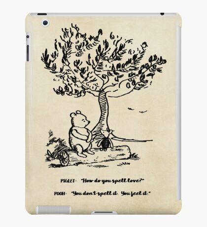 Winnie the Pooh - How do you spell love? iPad Case/Skin