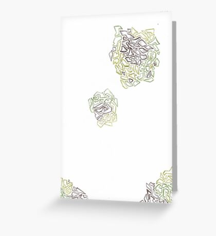 Abstract Ogre Greeting Card
