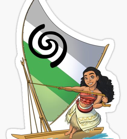 Aromantic Pride - Moana Sticker