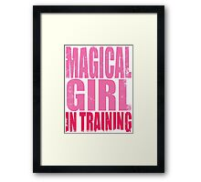 Magical Girl in Training Framed Print