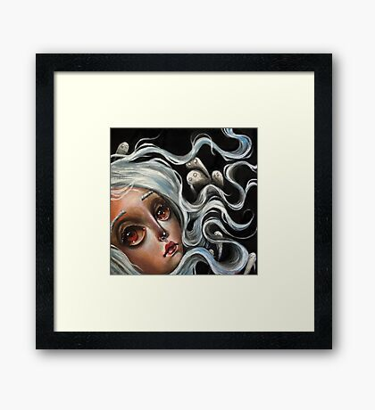 White Spirits :: Pop Surrealism Painting Framed Print