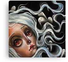 White Spirits :: Pop Surrealism Painting Canvas Print