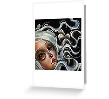 White Spirits :: Pop Surrealism Painting Greeting Card
