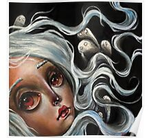 White Spirits :: Pop Surrealism Painting Poster