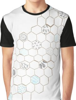 Abstract Water Turtle Squad Graphic T-Shirt