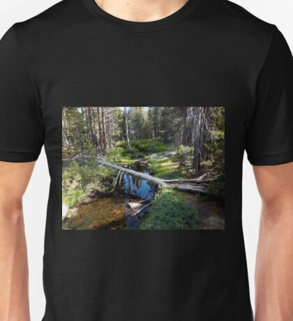 The Origin of Bridalveil Falls. Unisex T-Shirt