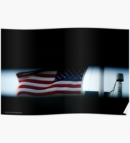 Flag Of The United States Of America | Fire Island, New York Poster