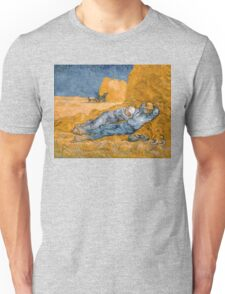 Noon, Rest from Work by Vincent van Gogh Unisex T-Shirt