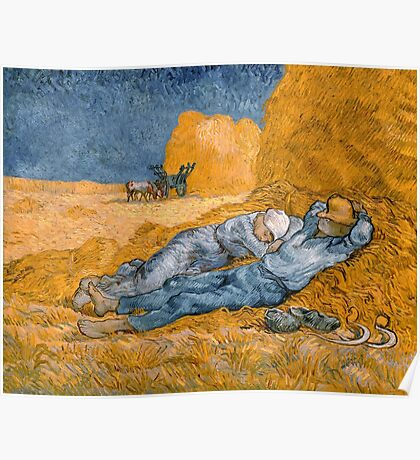 Noon, Rest from Work by Vincent van Gogh Poster