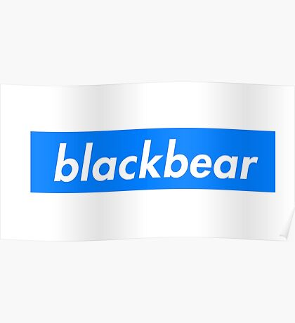 Blackbear - Box Logo Merch blue Poster