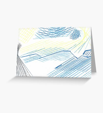 Abstract Starry Night Sky Greeting Card